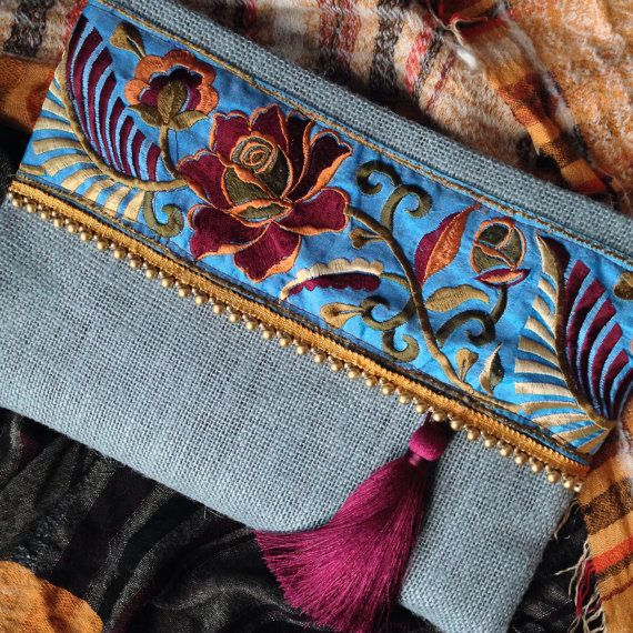 Ethnic Clutch, womens bag, boho bag, bohemian clutch, fashion clutch, Mothers…