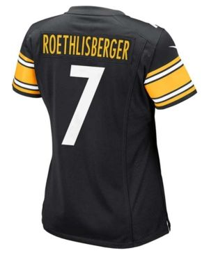 Nike Women's Ben Roethlisberger Pittsburgh Steelers Game Jersey  - Black L
