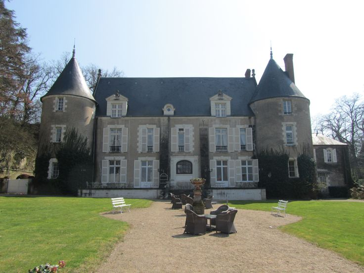 Amboise (Loire Valley), France - back view of Chateau de Pray 1244 were we stayed