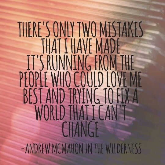 Andrew Mcmahon in the Wilderness - All our Lives. Amazing song