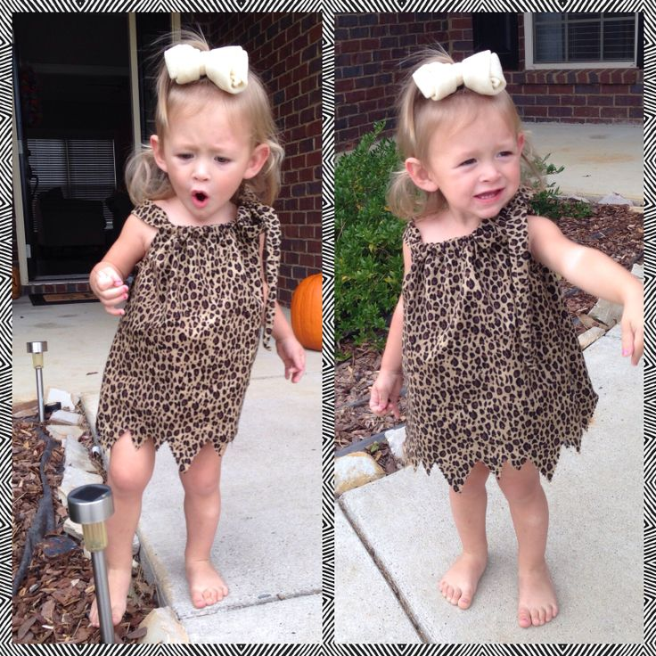 how to make a pebbles costume for toddler