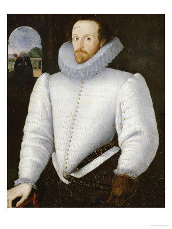 Robert Peake (1551-1619, United Kingdom) портрет джентльмена По традиции Идентифицированный как сэр Вальтер Raleigh