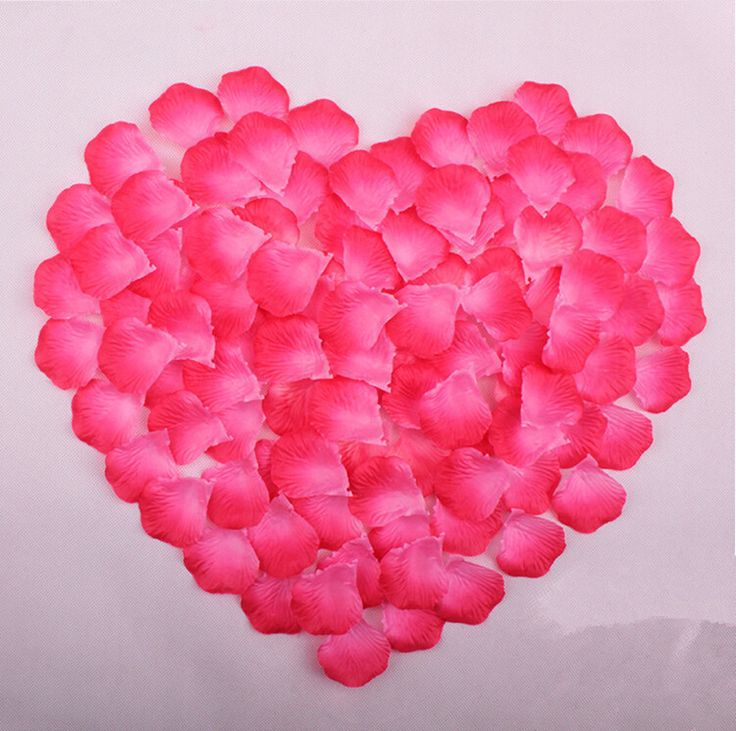 100pcs silk rose flower petals leaves wedding table for Multi colored rose petals