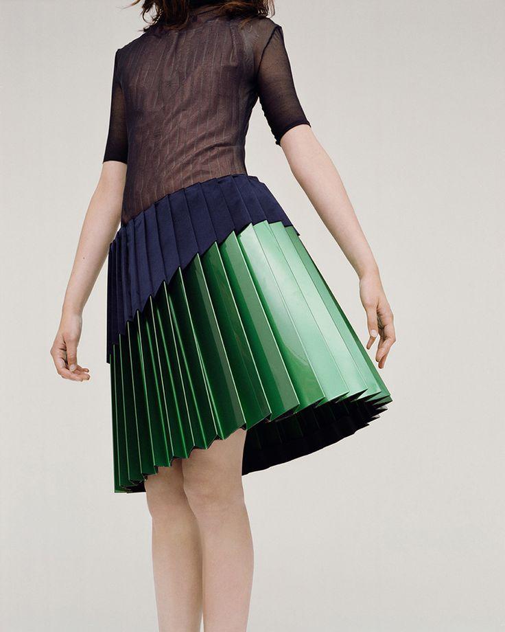 Camilla Mecacci, skirts, Saint Martins, fashion, designer, classic, feminine, pleats