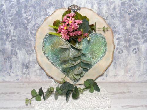 #diy #spring #flower #heart #stencil #pentart