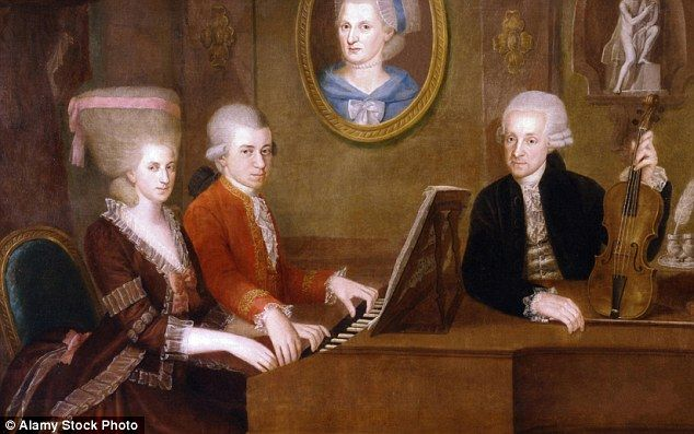 Mozart's sister was just as talented as the great composer - but had to stop playing so she could learn to sew and find a husband  Read more: http://www.dailymail.co.uk/news/article-3297925/Mozart-s-sister-just-talented-great-composer-stop-playing-learn-sew-husband.  html#ixzz3qDWDXPTC  Follow us: @MailOnline on Twitter | DailyMail on Facebook