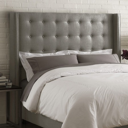 Madison Tufted Wingback Queen Headboard
