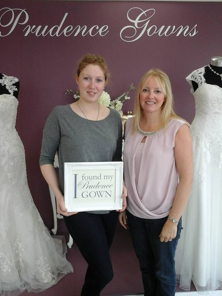 Our new #bride Hannah found her #weddingdress in our #Plymouth store today. YAY! #DressingYourDreams #PrudenceGowns