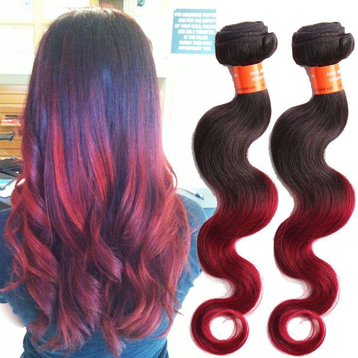 Ombre 100% Brazilian Echthaar Haarverläng Körperwelle Haar Schuss 50g/pcs