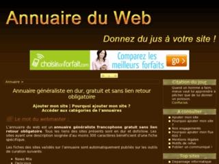Annuaire du web gratuit, liens en durs