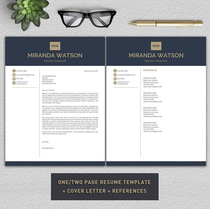 Resume Template | CV Template by Pro.Graphic.Design on @creativemarket