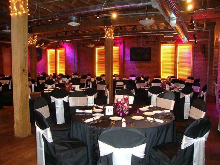 Black Table Linen Black Chair Covers Amp White Satin Tie