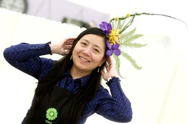 Floral headpiece individual entry