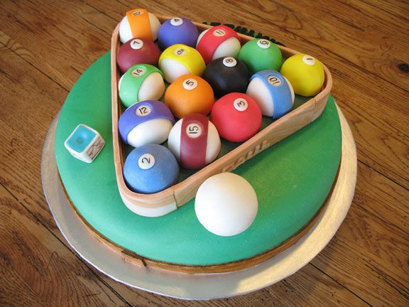 Billiard cake: this is a round version I found on Google.