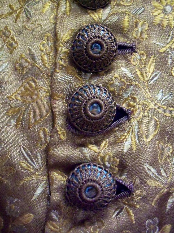 Buttons from Lilly Belle's Going Away Dress, late 1870s. Click on image to view the entire garment. Thanks to Silk Damask website.