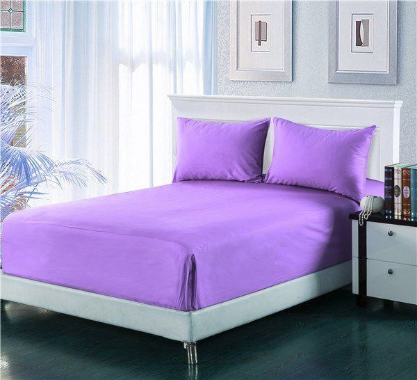 Tache 2-3 Piece Lavender Dreams Light Purple Bed Sheet Set (Fitted Sheet)