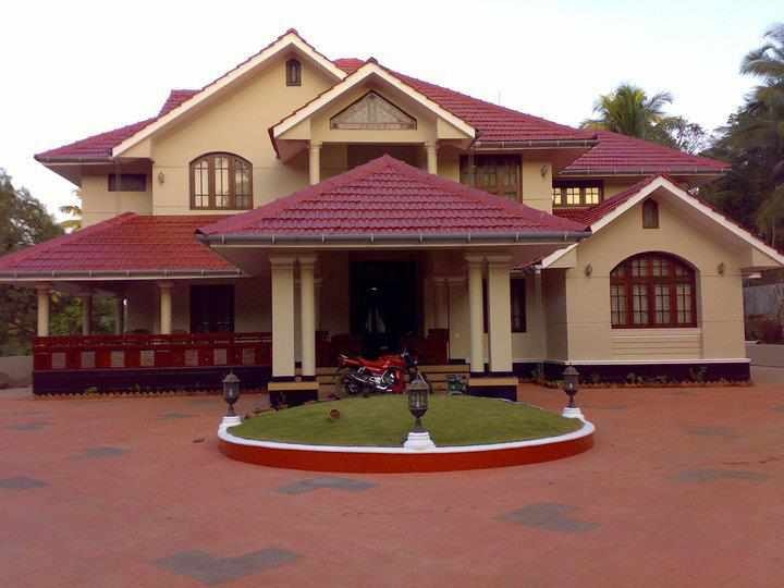 148 best kerala home elevations images on pinterest for Kerala homes photo gallery