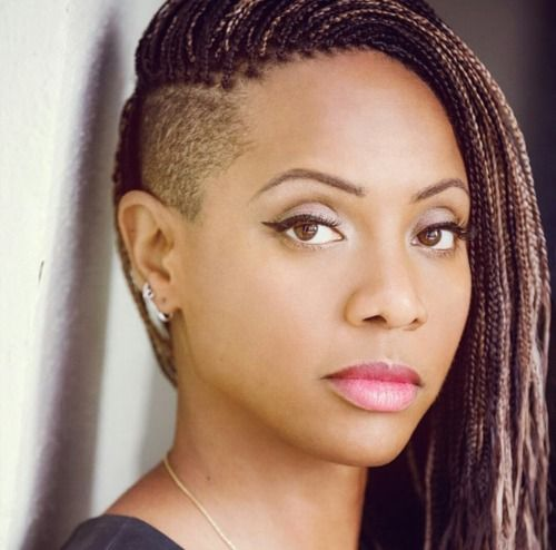 MC Lyte with fierce braids