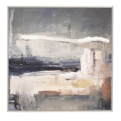 LOOK LEFT From a series of five paintings entitled Remote by artist Ben Lowe, this peaceful picture was the result of an escape from the Big Smoke to the countryside. We've got these prints in our homes and can vouch for just what these do for a room. #BenLowe #art #canvas #print