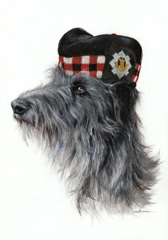 Scottish Deerhound Gicl\u00e9e Print of Original Artwork
