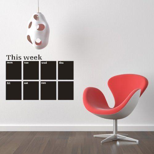 SOSW-לוח שנה Blackboard להסרה מדבקת מדבקות לוח עם גיר