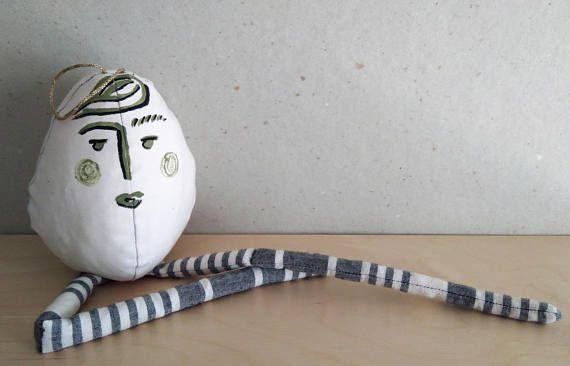 Egg decoration Easter spring egg Spring decor Easter ornaments for baby girl Baby boy  Nursery Handmade eggs Easter Home decor Gift under 20