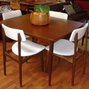 Danish Teak Dining Room Table And Chairs