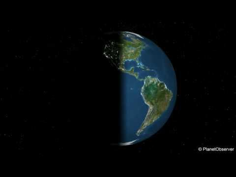 Rotating Earth day & night - PlanetObserver