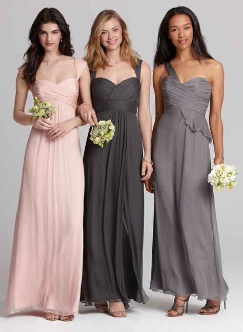 Blush Wedding Dress Grey Bridesmaids : Best pink gray weddings images on
