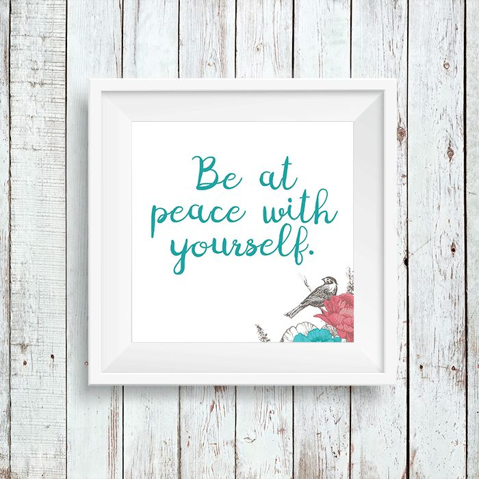 Easy Art Printables Instant Download Typography & Graphic Quote Print