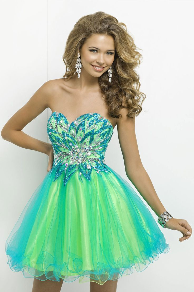 Nectarean Ball Gown Sequins Short/mini Sweetheart Crystal Detailing Prom Dresses