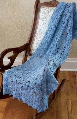 Вязание ажурного палантина