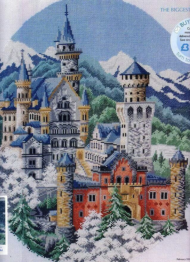 Castle cross stitch.