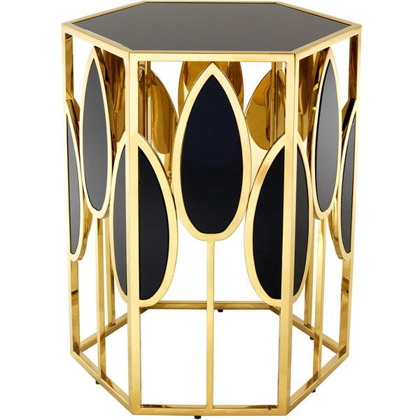 Best Art Nouveau Style Black And Gold Side Table Discover More 400 x 300
