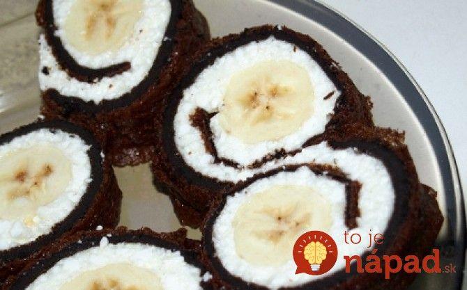 Kakaovo-banánová roláda bez múky