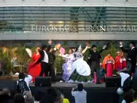Homenaje a Quito en las Fiestas de barcelona, de la Merçé 2008