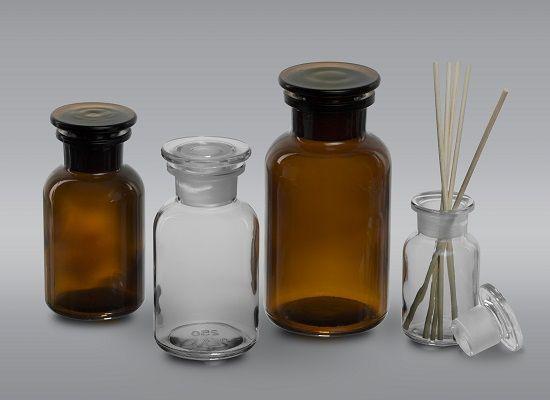 Pilloliere in vetro serie ANTICA FARMACIA con chiusura in vetro smerigliato -  Per dettagli e informazioni: www.srpackaging.it
