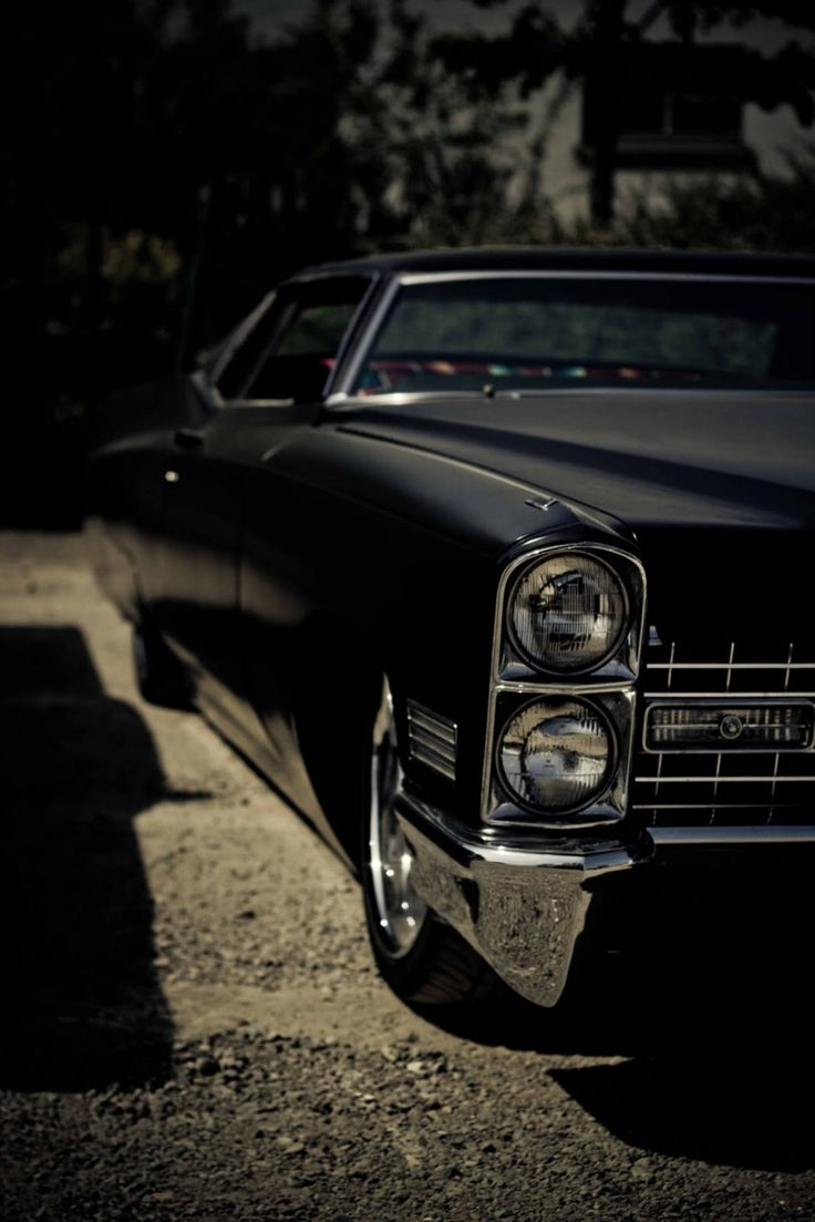 Cadillac Coupé DeVille. Black.  I'm an Italian American!  Of course I'm going to love this car!  LOL.