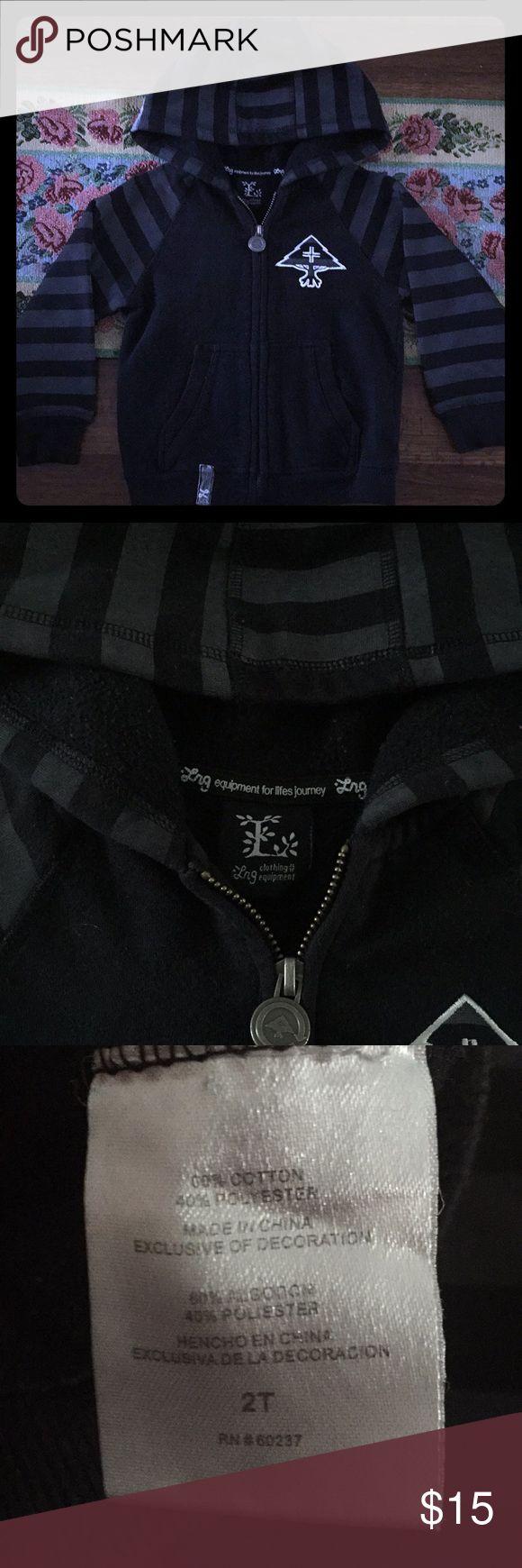 Boys LRG zip up, size 2t black and grey. Black and grey LRG zip up, size 2t. Lrg Shirts & Tops Sweatshirts & Hoodies