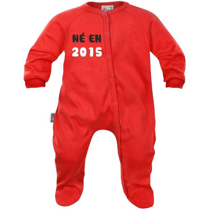 Pyjama bébé personnalisé : NÉ(E) EN…