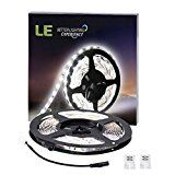 #9: LE 16.4ft LED Flexible Strip Lights 300 Units SMD 3528 LEDs 12V DC Non-waterproof Light Strips LED ribbon For Garden/Home/Kitchen/Car/Bar DIY Party Decoration Lighting (Daylight White) http://ift.tt/2cmJ2tB https://youtu.be/3A2NV6jAuzc