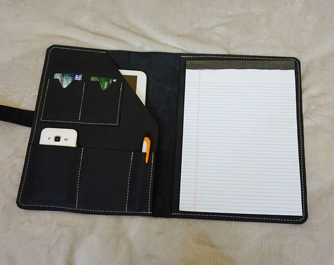 Leather portfolio,Handmade leather portfolio,Gift for him,Leather ipad case,Leather organizer,Fine leather portfolio.