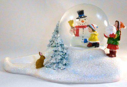 PartyLite diffuseur 1a p9991 teelichthaus de noël avec bonhomme de neige lumineux à lED avec inscription merry christmas --- --- --- --- --- --- --- --- --- --- --- --- --- --- --- --- x 15 en porcelaine biscuit 9 x 9 cm