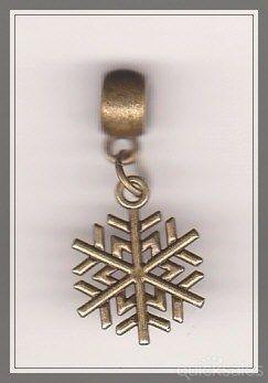Christmas Snowflake Bronze European Bail Charm  by MadAboutIncense - $6.50