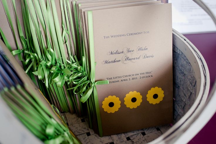 Sunflower Theme Wedding Programs