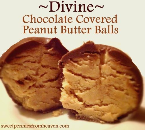 Peanut butter balls, Chocolate covered peanuts and Chocolate covered ...