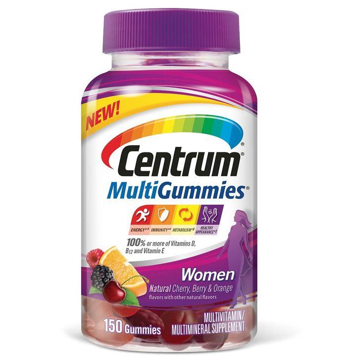 Centrum MultiGummies Women Multivitamin/Multimineral Dietary Supplement Gummies - Cherry Berry & Orange - 164ct