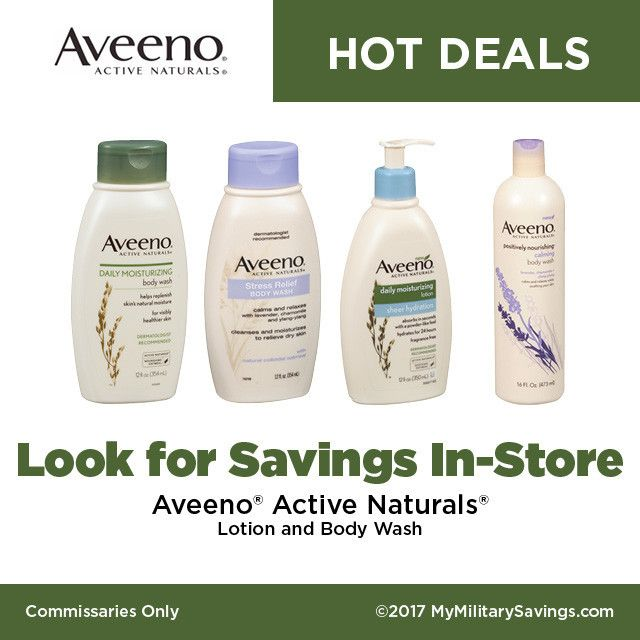 Hot deals on AVEENO at your Commissary! Johnson and Johnson   Featured Brands   My Military Savings   Deals, Coupons