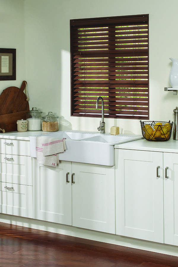 Levolor Custom Faux Wood Blinds In Walnut Faux Wood Blinds Wood