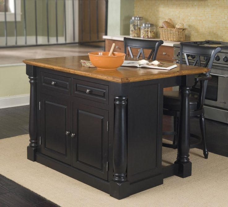 Discount Kitchen Islands With Stools Home Styles Monarch 48x25 Kitchen Island W 2 Stools
